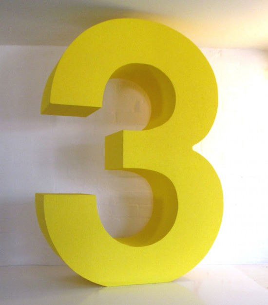 Big 3d numbers polystyrene letters and logos for Large 3d numbers