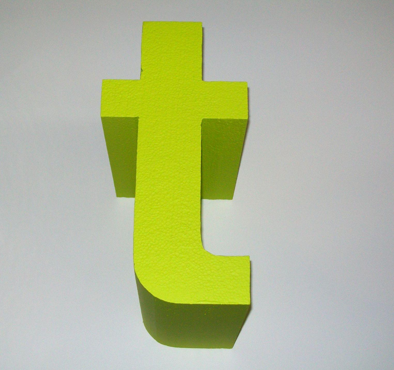 lettertlimegreen polystyrene letters and logos